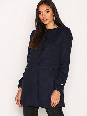 Vero Moda Vmnerina Rich 3/4 Wool Jacket Boos Mörk Blå
