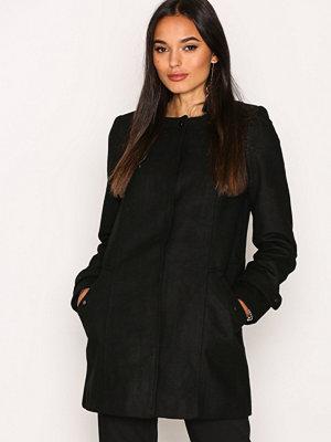 Vero Moda Vmnerina Rich 3/4 Wool Jacket Boos Svart