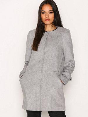 Vero Moda Vmnerina Rich 3/4 Wool Jacket Boos Ljus Grå