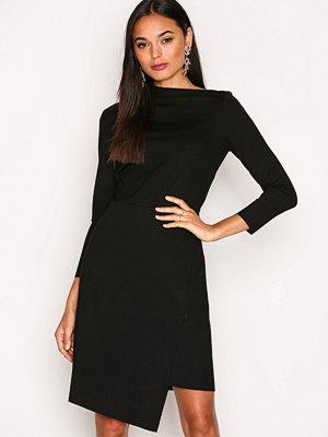 Filippa K Drawstring Wrap Jersey Dress Black
