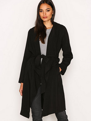 Trenchcoats - New Look Waterfall Belted Coat Black
