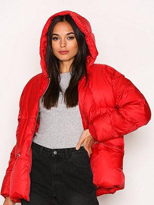 Dunjackor - J. Lindeberg Sloane Shiny Poly Jacket Deep Red