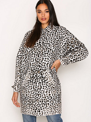 MICHAEL Michael Kors Animal Jaquard Coat Chocolate