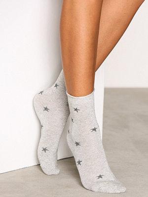 Strumpor - Vero Moda Vmglitter Star Socks Ljus Grå