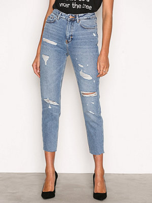New Look Ripped Mom Jeans Blue