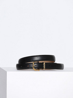Bälten & skärp - Polo Ralph Lauren Casual Skinny Leather Belt Svart