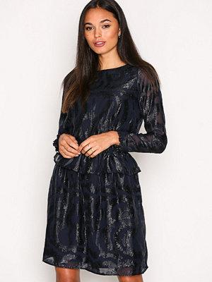 Y.a.s Yascindy Ls Dress Mörk Blå