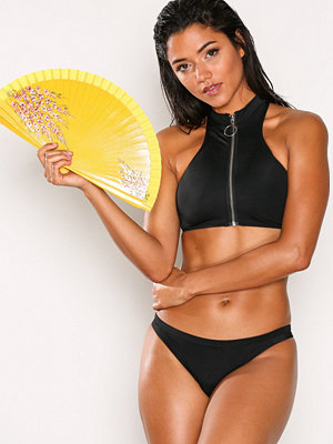 Missguided Zip Front Sporty Bikini S Black