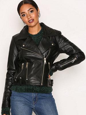 Vero Moda Vmnabba Short Leather Jacket Svart