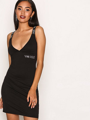 Missguided Embroidered Bodycon Dress Black
