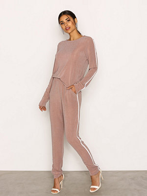 Jumpsuits & playsuits - NLY Trend Lurex Sporty Set Beige