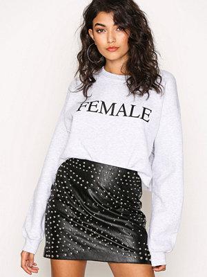 Missguided Stud Faux Leather Mini Skirt Black