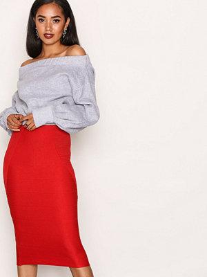 Kjolar - Missguided Bandage Midi Skirt Red