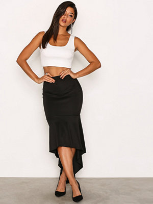 NLY One Low Frill Maxi Skirt Svart
