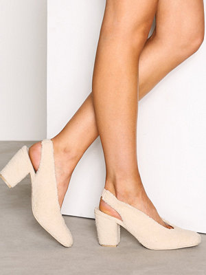 NLY Shoes Teddy Pump Offwhite