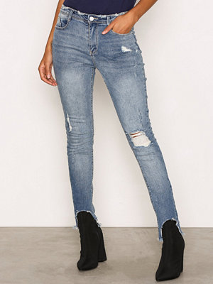 Missguided Mid Rise Skinny Jeans Blue