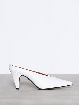 Topshop JUICY V-Cut Mules White