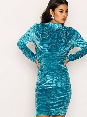 NLY Trend Covered Velvet Dress Turkos