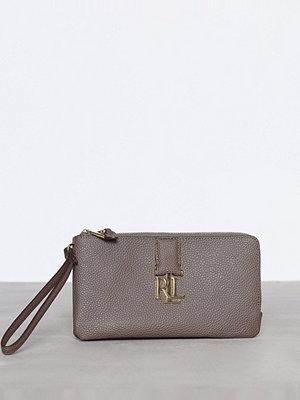 Lauren Ralph Lauren grå kuvertväska Double Zip Wristlet Falcon