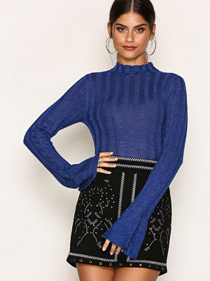 NLY Trend Perfect Sleeve Glam Knit Cobolt Blue