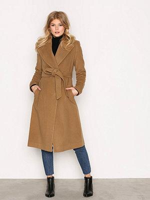Lauren Ralph Lauren Wrap Wool Coat Camel