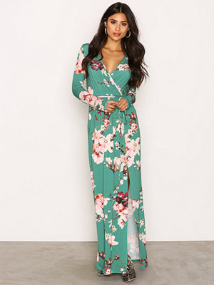 NLY One Print Maxi Dress Grön