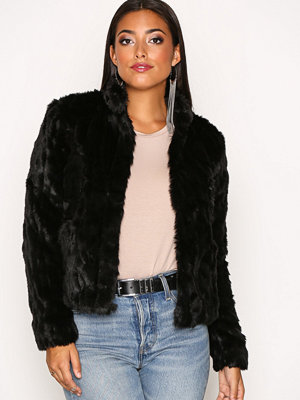 Only onlVIVA Fur Jacket Otw Svart