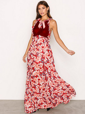 For Love & Lemons Blossom Tank Maxi Dress Cranberry