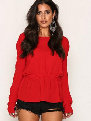 NLY Trend V-Back Blouse Röd