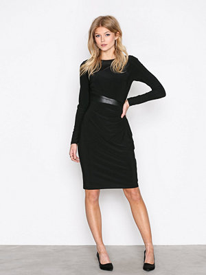 Lauren Ralph Lauren Celeste Long Sleeve Day Dress Black