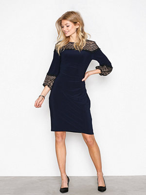Lauren Ralph Lauren Libertine 3/4 Sleeve Day Dress Navy