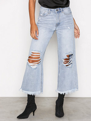 Missguided High Rise Wide Leg Jeans Blue