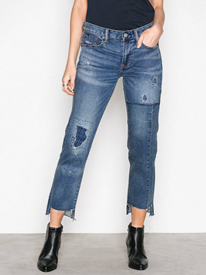 Polo Ralph Lauren Waverly Alaina Wash Cropped Jean Indigo