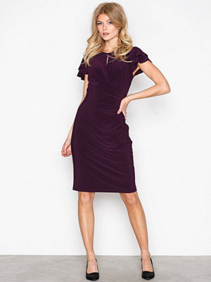 Lauren Ralph Lauren Kolbina Short Sleeve Day Dress Purple