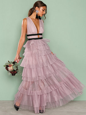 True Decadence Short Sleeve Frill Dress Lilac