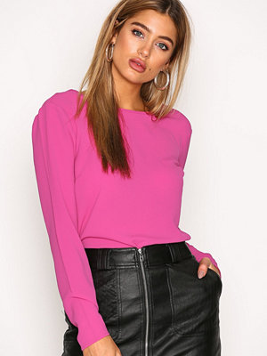 NLY Trend Tied Blouse Fuchsia