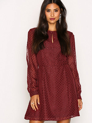 NLY Trend Stay All Night Dress Burgundy