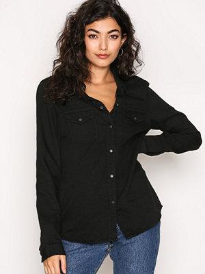 Noisy May Nmkendall L/S Shirt Black Svart