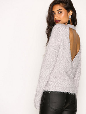 NLY Trend Wrap Back Cozy Knit Ljus Grå