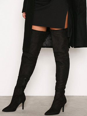 NLY Shoes Thigh High Stiletto Boot Svart