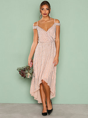 True Decadence Detail Wrap Dress Blush