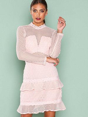 True Decadence Mesh Detail Dress Pale Blush