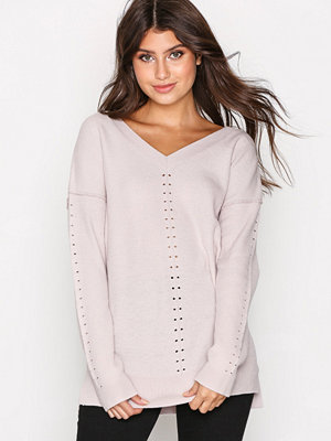 Topshop Knitted V-Neck Jumper Light Pink