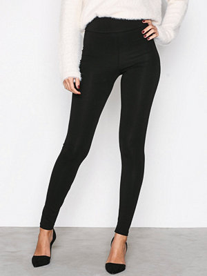 Leggings & tights - NLY Trend High Waist Leggings Svart