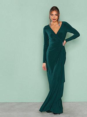 Lauren Ralph Lauren Pascha Long Sleeve Evening Dress Green