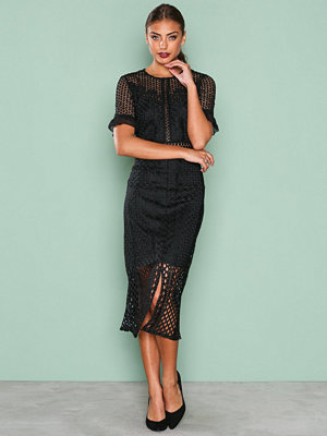 True Decadence Detail Short Sleeve Dress Black