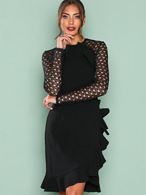 True Decadence Lace Frill Detail Dress Black