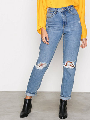 Topshop MDT Rip Mom Jeans Denim