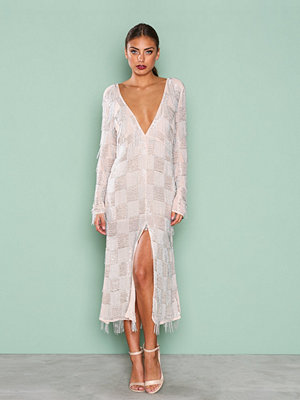 True Decadence Long Sleeve Detail Dress Silver