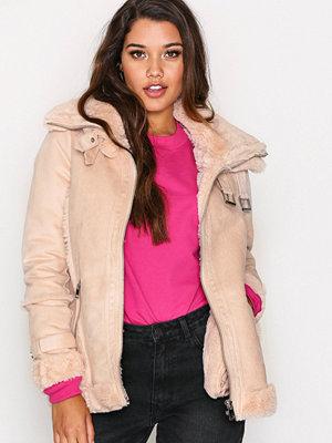 River Island Avaiator PU Jacket Pink